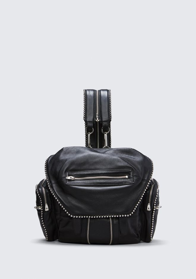 ALEXANDER WANG BALL STUD MARTI IN BLACK WITH RHODIUM BACKPACK Adult 12_n_f