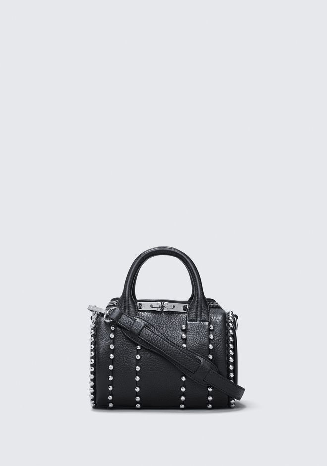 ALEXANDER WANG rockie-rocco BALL STUD MINI ROCKIE IN MATTE BLACK WITH RHODIUM