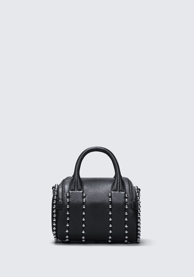 ALEXANDER WANG BALL STUD MINI ROCKIE IN MATTE BLACK WITH RHODIUM  Shoulder bag Adult 12_n_d