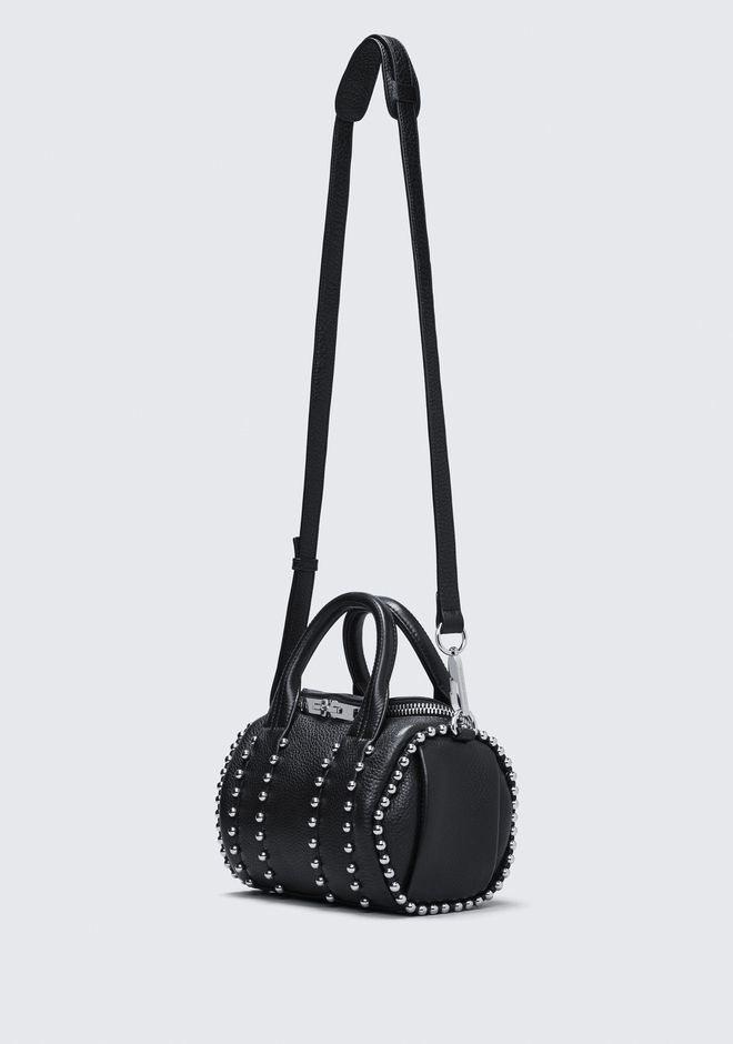 ALEXANDER WANG BALL STUD MINI ROCKIE IN MATTE BLACK WITH RHODIUM  Shoulder bag Adult 12_n_e