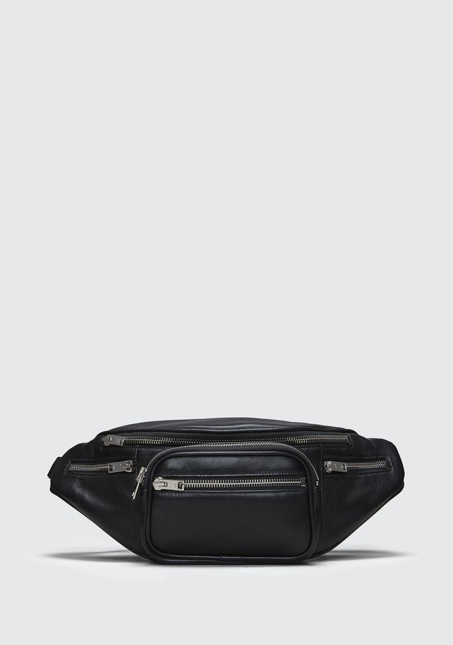 ALEXANDER WANG bags-classics ATTICA FANNY PACK IN WASHED BLACK WITH RHODIUM