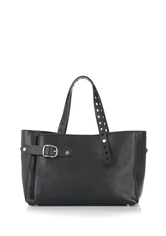 ALEXANDER WANG ATTICA FOLD SATCHEL IN BLACK WITH RHODIUM TOTE Adult 12_n_d