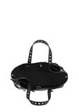 ALEXANDER WANG ATTICA FOLD SATCHEL IN BLACK WITH RHODIUM TOTE Adult 8_n_a