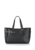 ALEXANDER WANG ATTICA FOLD SATCHEL IN BLACK WITH RHODIUM TOTE Adult 8_n_d
