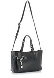 ALEXANDER WANG ATTICA FOLD SATCHEL IN BLACK WITH RHODIUM TOTE Adult 8_n_e