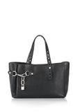 ALEXANDER WANG ATTICA FOLD SATCHEL IN BLACK WITH RHODIUM TOTE Adult 8_n_f