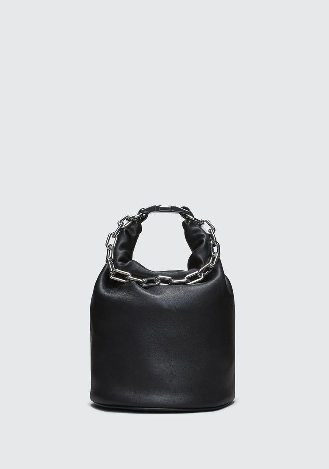 ALEXANDER WANG bags-classics ATTICA DRY SACK IN BLACK WITH RHODIUM