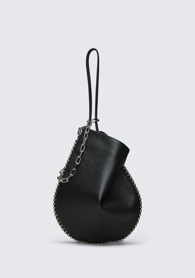ALEXANDER WANG bags-classics ROXY HOBO IN PEBBLED BLACK WITH RHODIUM