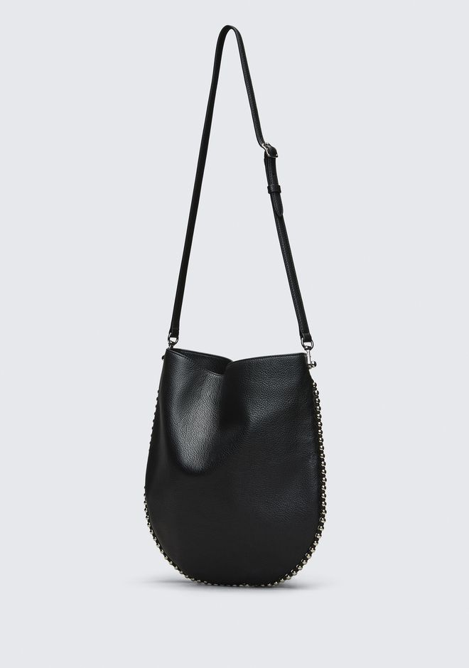 ALEXANDER WANG ROXY HOBO IN PEBBLED BLACK WITH RHODIUM  单肩包 Adult 12_n_a