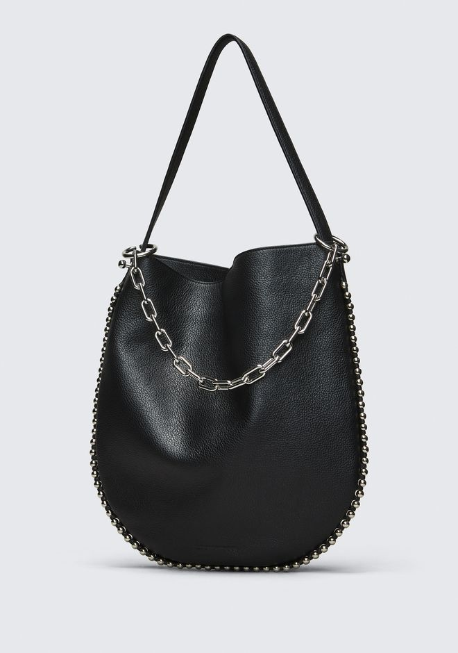 ALEXANDER WANG ROXY HOBO IN PEBBLED BLACK WITH RHODIUM  Borse a spalla Adult 12_n_d