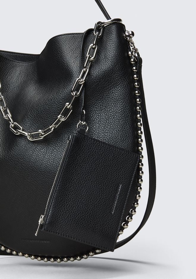 ALEXANDER WANG ROXY HOBO IN PEBBLED BLACK WITH RHODIUM  Borse a spalla Adult 12_n_e