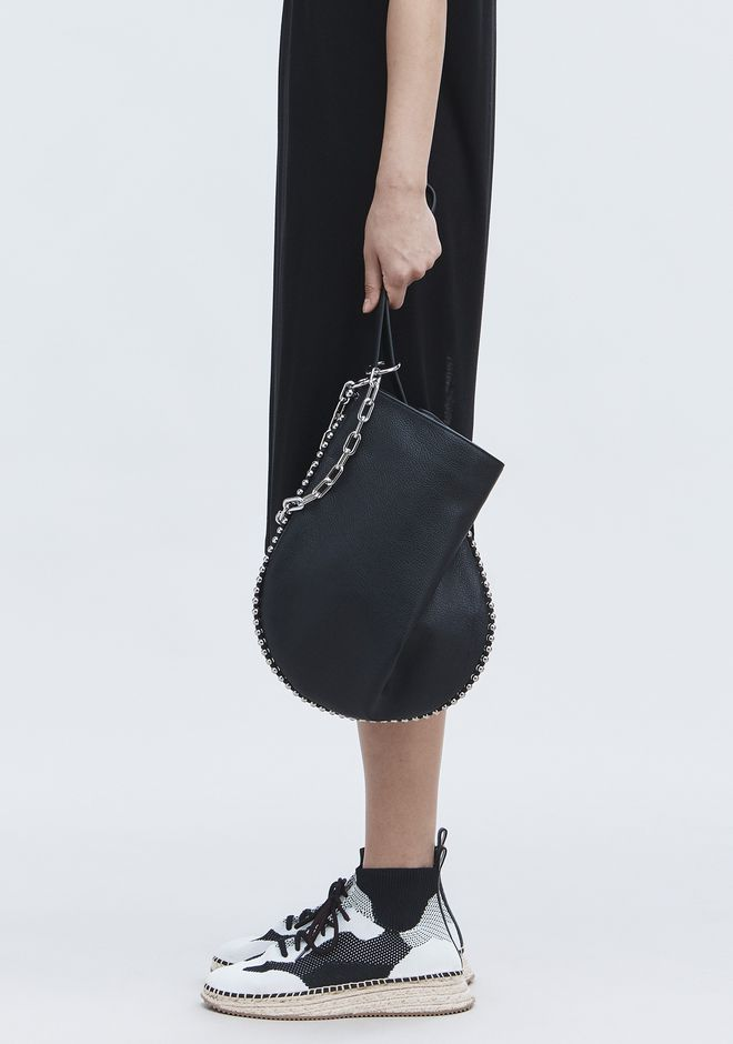 ALEXANDER WANG ROXY HOBO IN PEBBLED BLACK WITH RHODIUM  单肩包 Adult 12_n_r