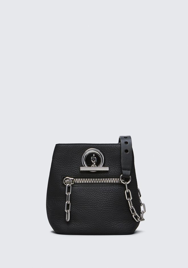 ALEXANDER WANG sacs-classiques RIOT CROSS BODY BAG IN MATTE BLACK WITH RHODIUM