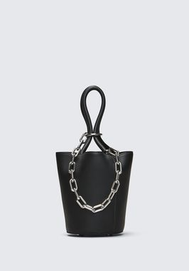 ROXY MINI BUCKET IN BLACK WITH RHODIUM