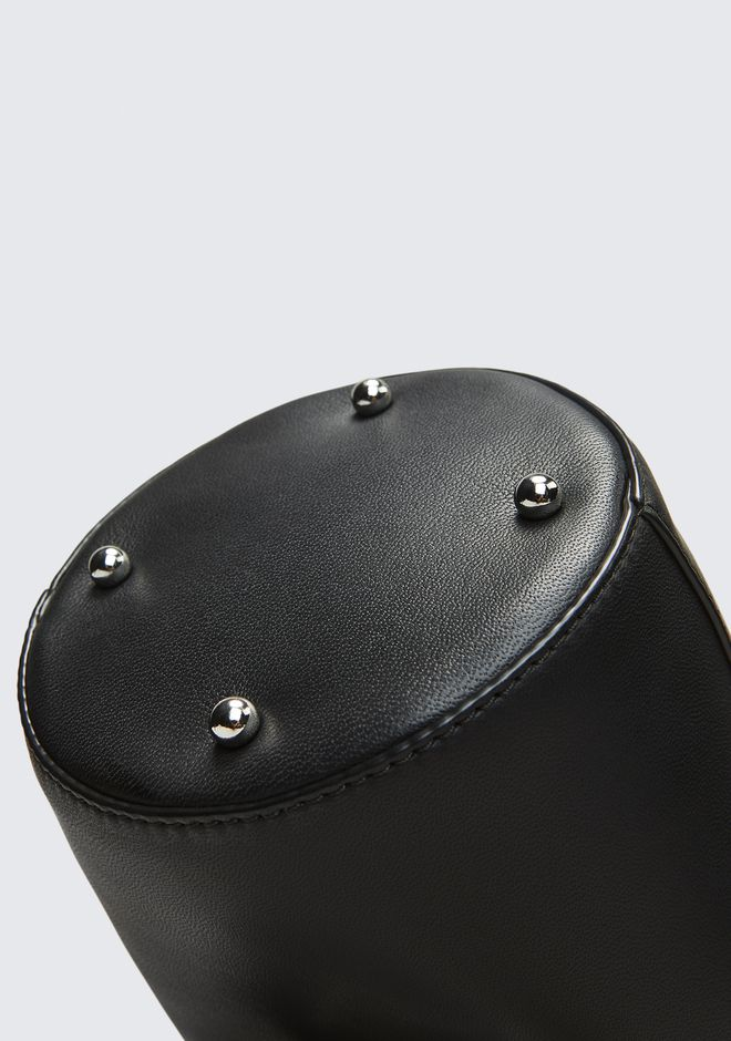 ALEXANDER WANG ROXY MINI BUCKET IN BLACK WITH RHODIUM  CLUTCH Adult 12_n_a