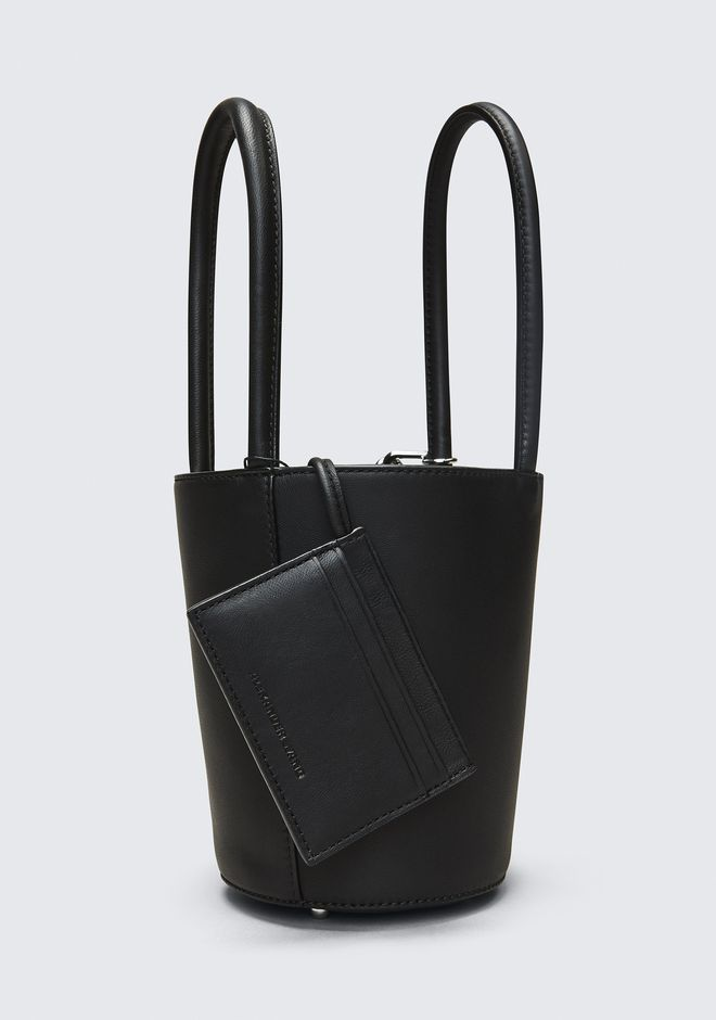 ALEXANDER WANG ROXY MINI BUCKET IN BLACK WITH RHODIUM  CLUTCH Adult 12_n_d