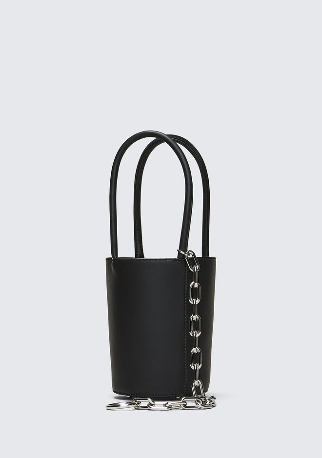 ALEXANDER WANG ROXY MINI BUCKET IN BLACK WITH RHODIUM  CLUTCH Adult 12_n_e