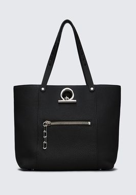 RIOT TOTE IN MATTE BLACK WITH RHODIUM