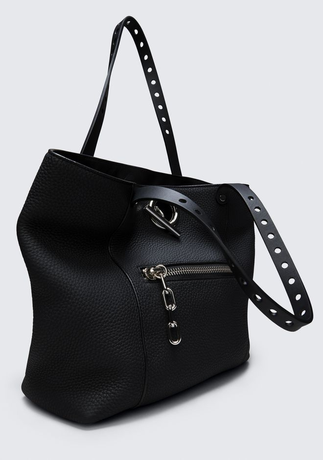 ALEXANDER WANG RIOT TOTE IN MATTE BLACK WITH RHODIUM  TOTE Adult 12_n_a