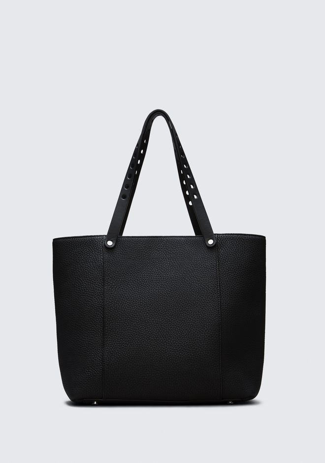 ALEXANDER WANG RIOT TOTE IN MATTE BLACK WITH RHODIUM  TOTE Adult 12_n_d