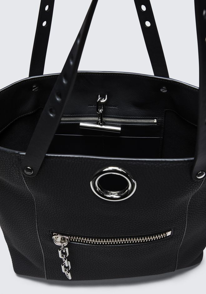 ALEXANDER WANG RIOT TOTE IN MATTE BLACK WITH RHODIUM  TOTE Adult 12_n_e
