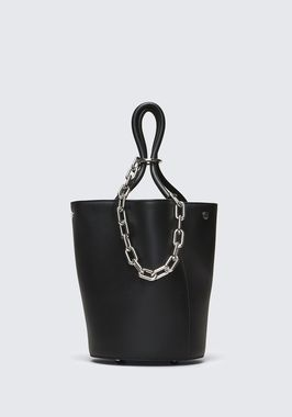 ROXY BUCKET BAG IN BLACK WITH RHODIUM
