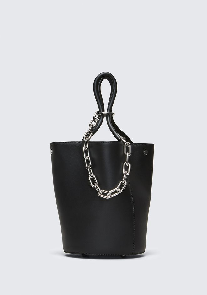 ALEXANDER WANG sacs-classiques ROXY BUCKET BAG IN BLACK WITH RHODIUM