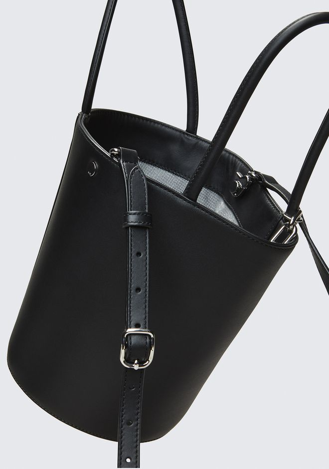ALEXANDER WANG ROXY BUCKET BAG IN BLACK WITH RHODIUM  CLUTCH Adult 12_n_e