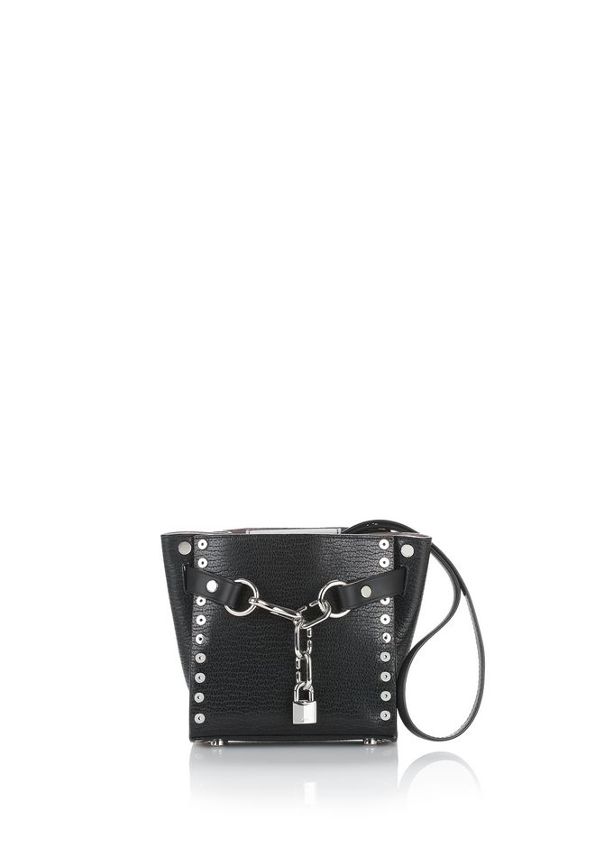 ALEXANDER WANG new-arrivals-women ATTICA CHAIN MINI SATCHEL IN BLACK WITH GROMMETS