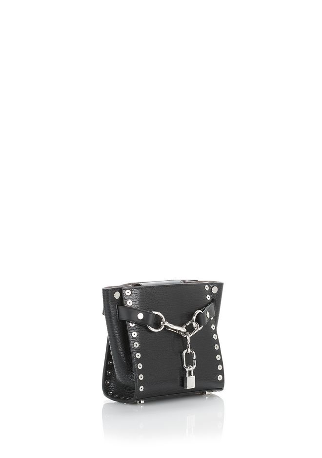 ALEXANDER WANG ATTICA CHAIN MINI SATCHEL IN BLACK WITH GROMMETS Shoulder bag Adult 12_n_d