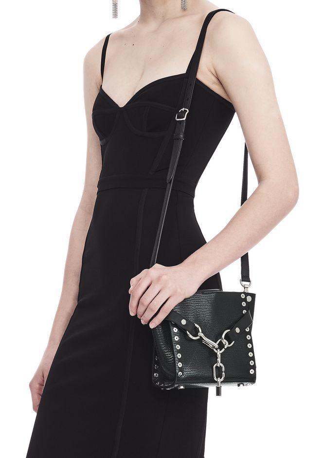 ALEXANDER WANG ATTICA CHAIN MINI SATCHEL IN BLACK WITH GROMMETS Shoulder bag Adult 12_n_r