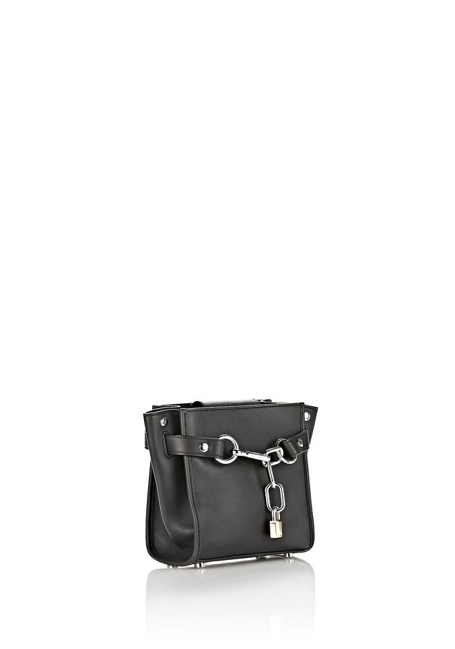 ALEXANDER WANG ATTICA CHAIN MINI SATCHEL IN BLACK WITH RHODIUM Shoulder bag Adult 12_n_a