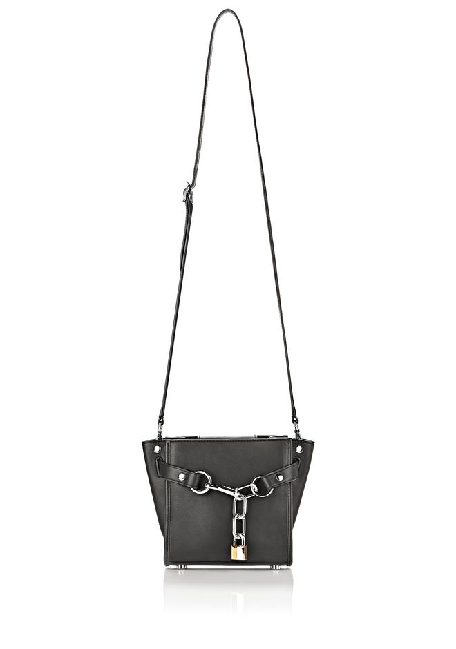 ALEXANDER WANG ATTICA CHAIN MINI SATCHEL IN BLACK WITH RHODIUM Shoulder bag Adult 12_n_d