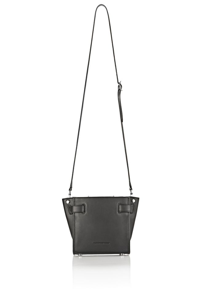 ALEXANDER WANG ATTICA CHAIN MINI SATCHEL IN BLACK WITH RHODIUM Shoulder bag Adult 12_n_e
