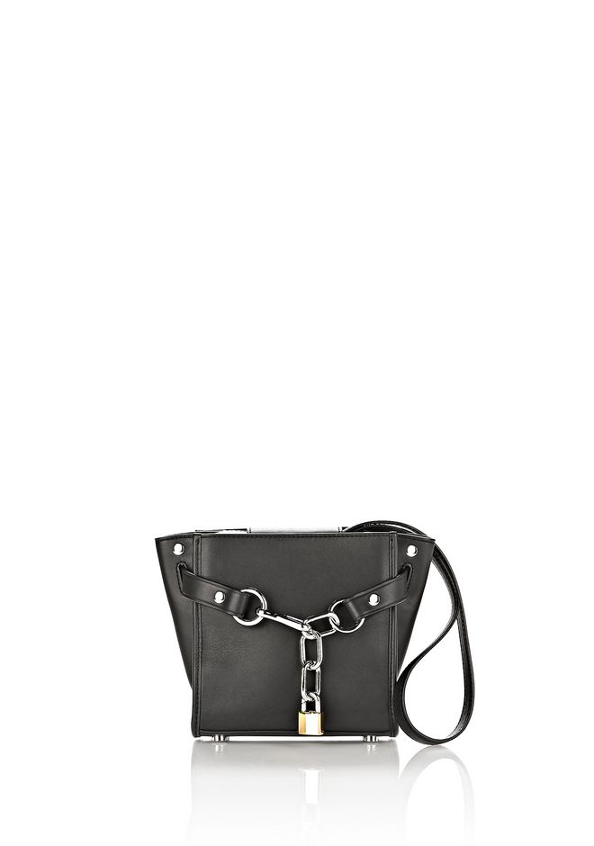 ALEXANDER WANG ATTICA CHAIN MINI SATCHEL IN BLACK WITH RHODIUM Shoulder bag Adult 12_n_f