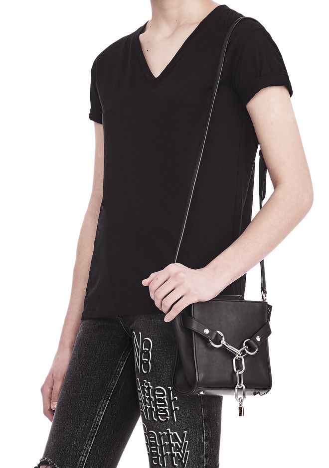 ALEXANDER WANG ATTICA CHAIN MINI SATCHEL IN BLACK WITH RHODIUM Shoulder bag Adult 12_n_r