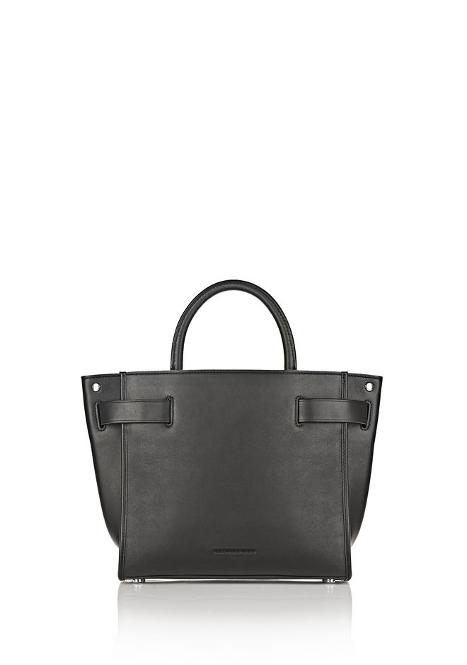 ALEXANDER WANG ATTICA CHAIN LARGE SATCHEL IN BLACK WITH RHODIUM Schultertasche Adult 12_n_d