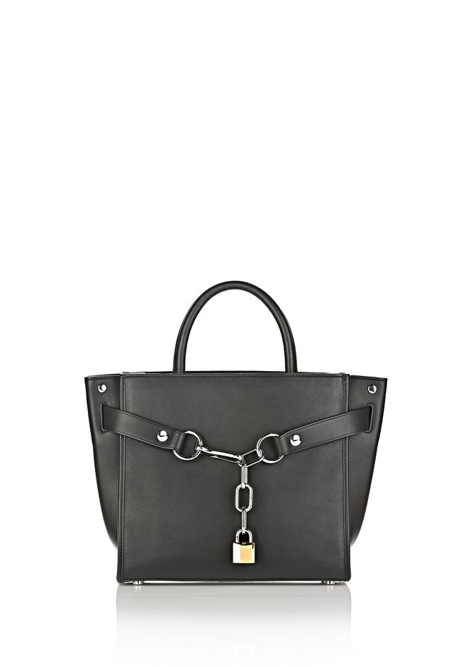 ALEXANDER WANG ATTICA CHAIN LARGE SATCHEL IN BLACK WITH RHODIUM Schultertasche Adult 12_n_f