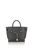 ALEXANDER WANG ATTICA CHAIN LARGE SATCHEL IN BLACK WITH RHODIUM Shoulder bag Adult 8_n_f
