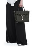 ALEXANDER WANG ATTICA CHAIN LARGE SATCHEL IN BLACK WITH RHODIUM Schultertasche Adult 8_n_r