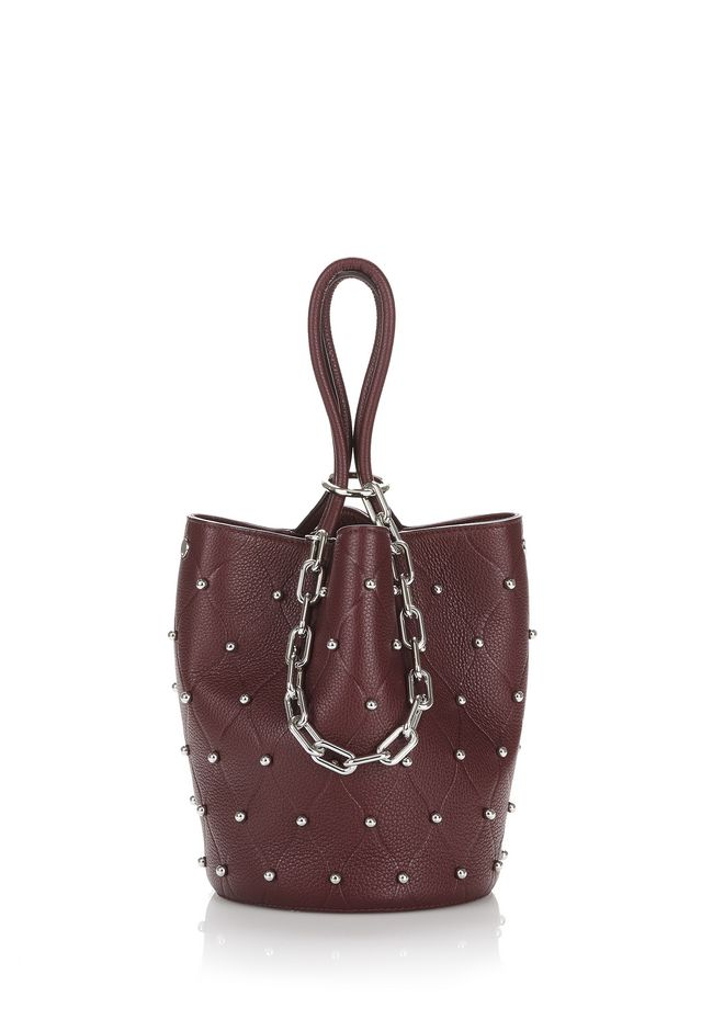ALEXANDER WANG Shoulder bags Women ROXY BUCKET IN EMBOSSED BEET WITH RHODIUM