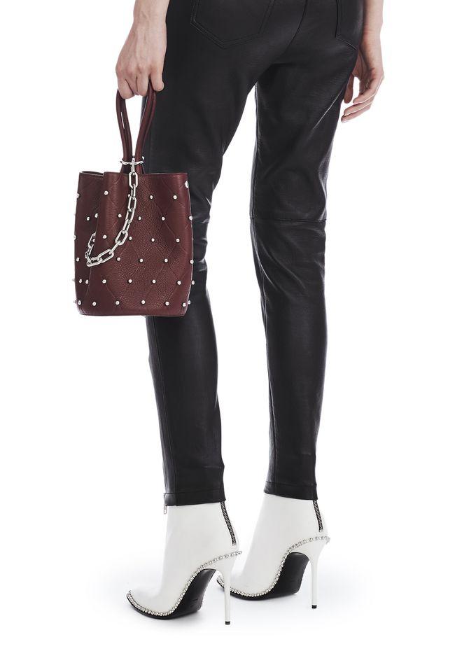 ALEXANDER WANG ROXY BUCKET IN EMBOSSED BEET WITH RHODIUM Shoulder bag Adult 12_n_r