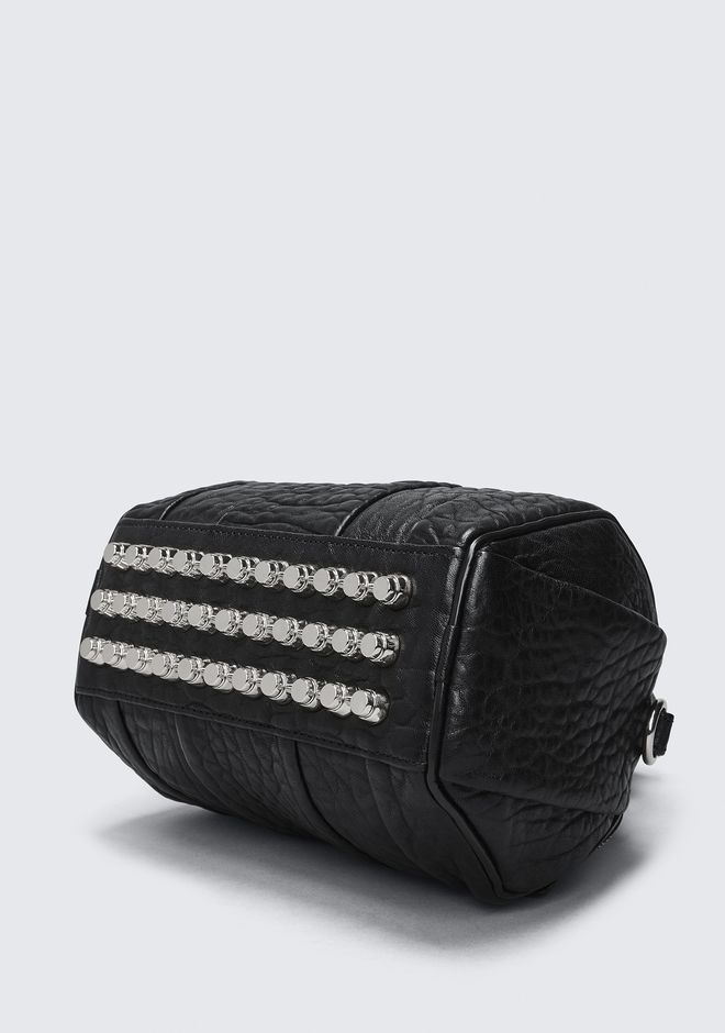 ALEXANDER WANG MINI ROCKIE IN PEBBLED BLACK WITH RHODIUM Borse a spalla Adult 12_n_a