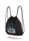 ALEXANDER WANG WALLIE GYMSACK IN BLACK NYLON WITH CAR PRINT BACKPACK Adult 8_n_e