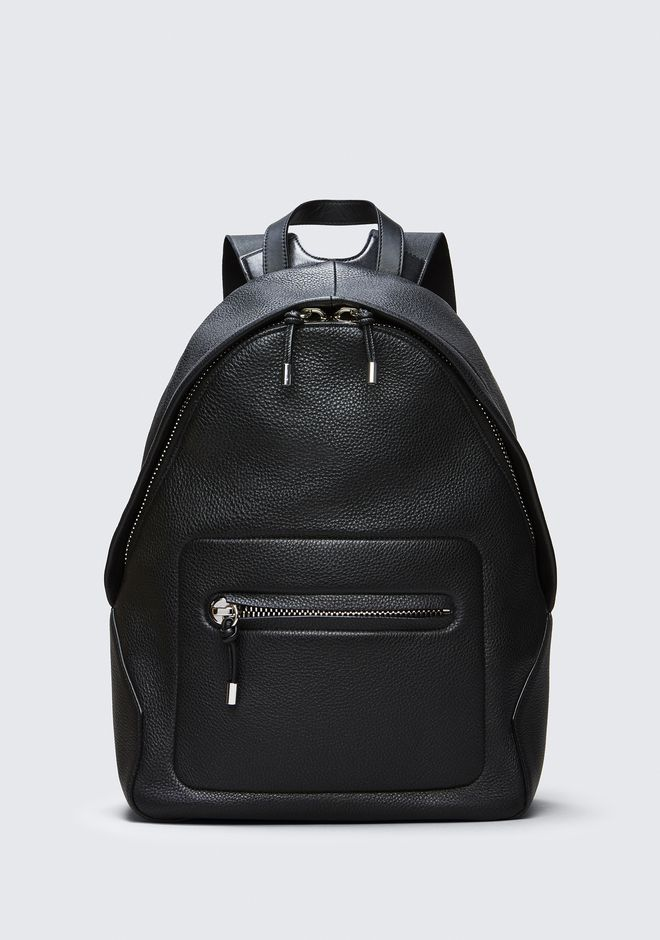 ALEXANDER WANG BACKPACKS Men BERKELEY BACKPACK IN PEBBLED BLACK WITH RHODIUM