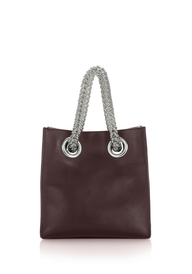 ALEXANDER WANG TOTES Women GENESIS SHOPPER IN CORDOVAN WITH BOX CHAIN