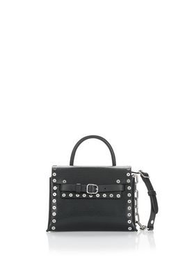 ATTICA MINI CROSSBODY IN BLACK WITH GROMMETS