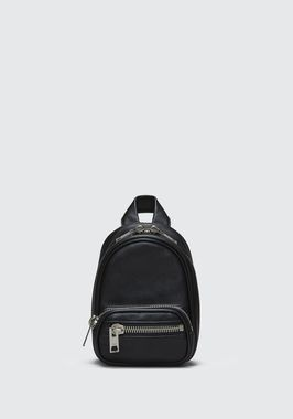 ATTICA SOFT MINI BACKPACK IN BLACK WITH RHODIUM