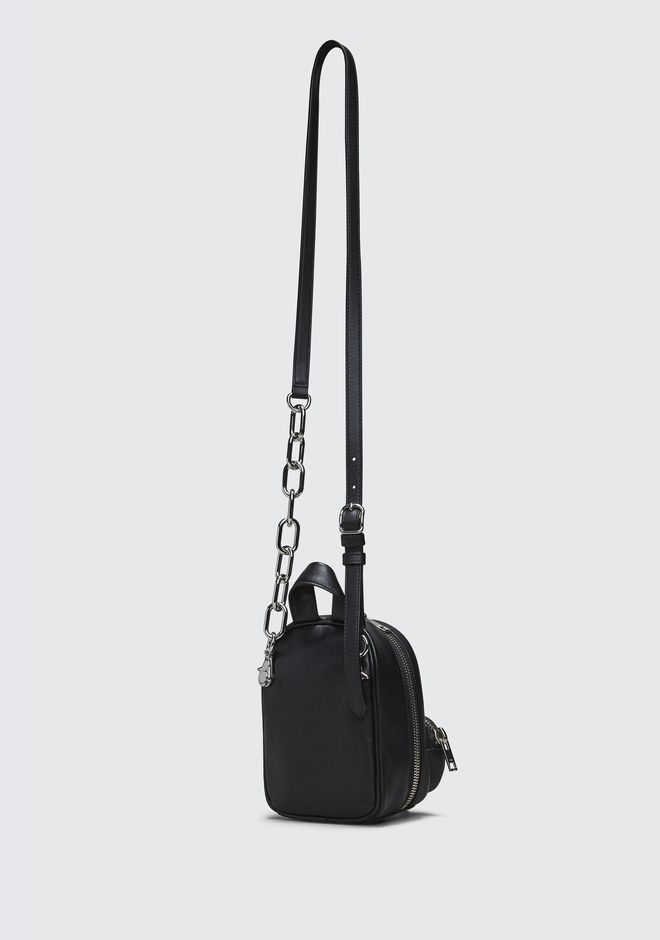 ALEXANDER WANG ATTICA SOFT MINI BACKPACK IN BLACK WITH RHODIUM Borse a spalla Adult 12_n_a