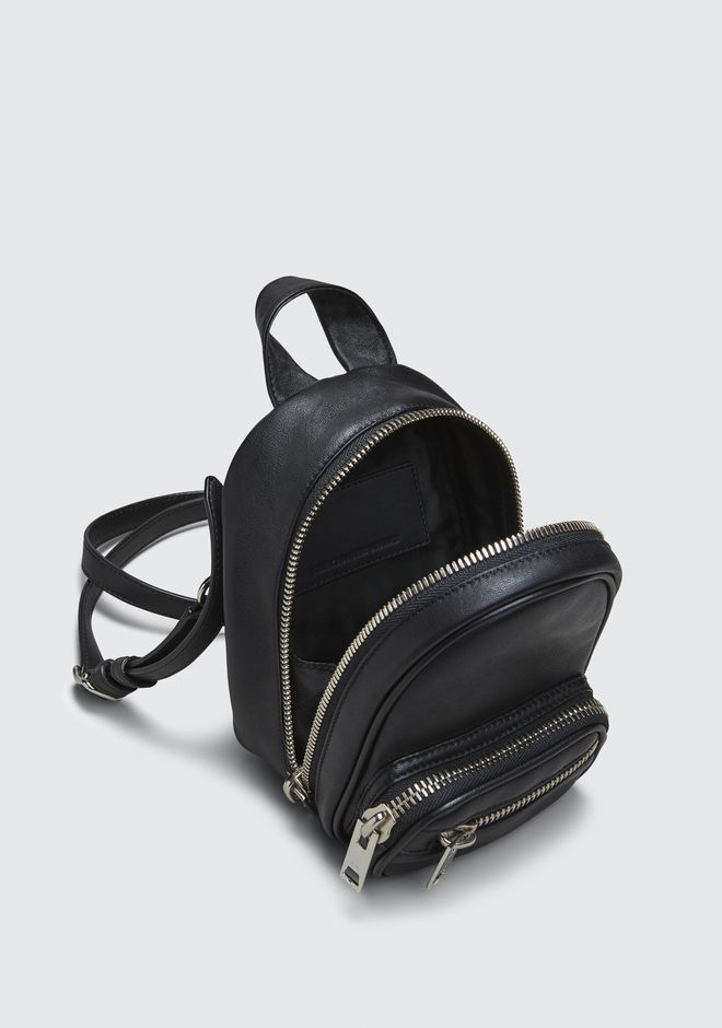 ALEXANDER WANG ATTICA SOFT MINI BACKPACK IN BLACK WITH RHODIUM Borse a spalla Adult 12_n_d